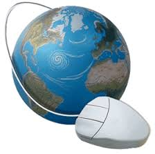 Globe with mouse