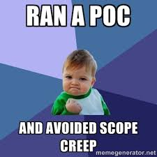 baby scope creep